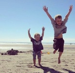 Hunter & Braeden at beach