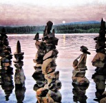Balancing rocks at Timothy Lake