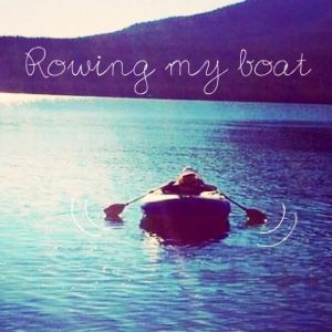 This summarizes being ill.... Just Keep Rowing Your Boat!